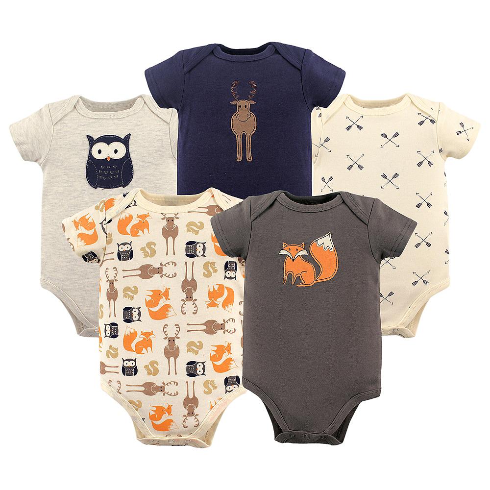 Woodland Creatures Hudson Baby Bodysuits, 5-Pack Image #1