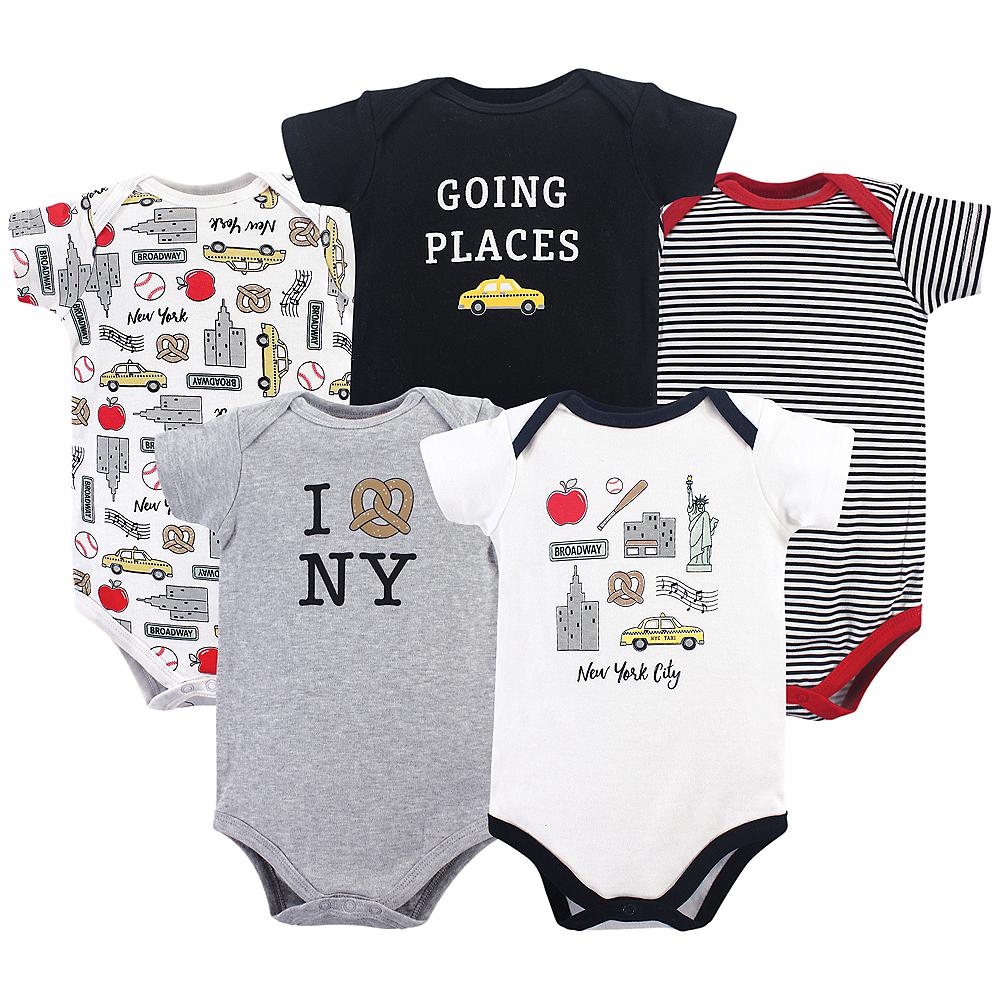 New York City Hudson Baby Bodysuits, 5-Pack Image #1