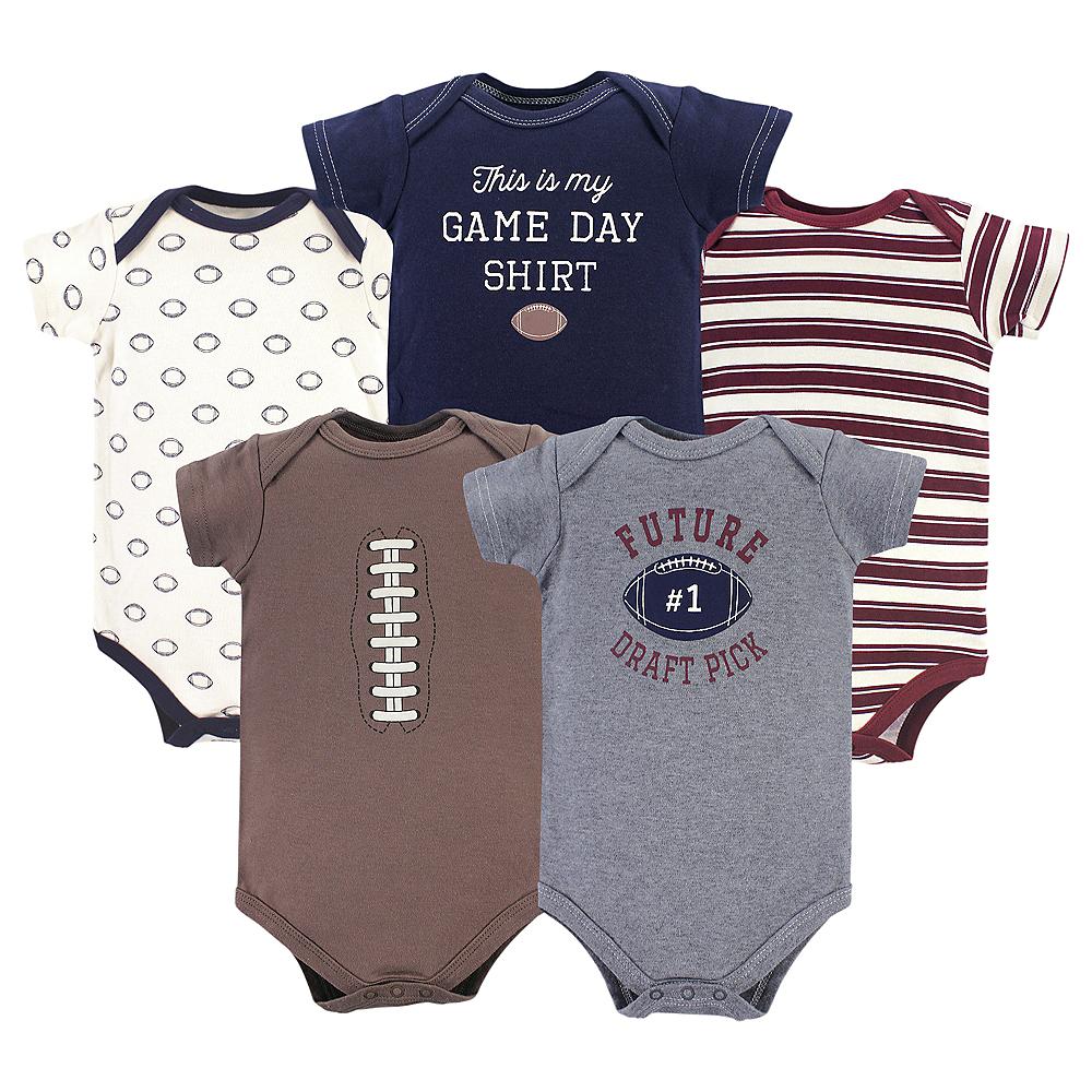 Football Hudson Baby Bodysuits, 5-Pack Image #1