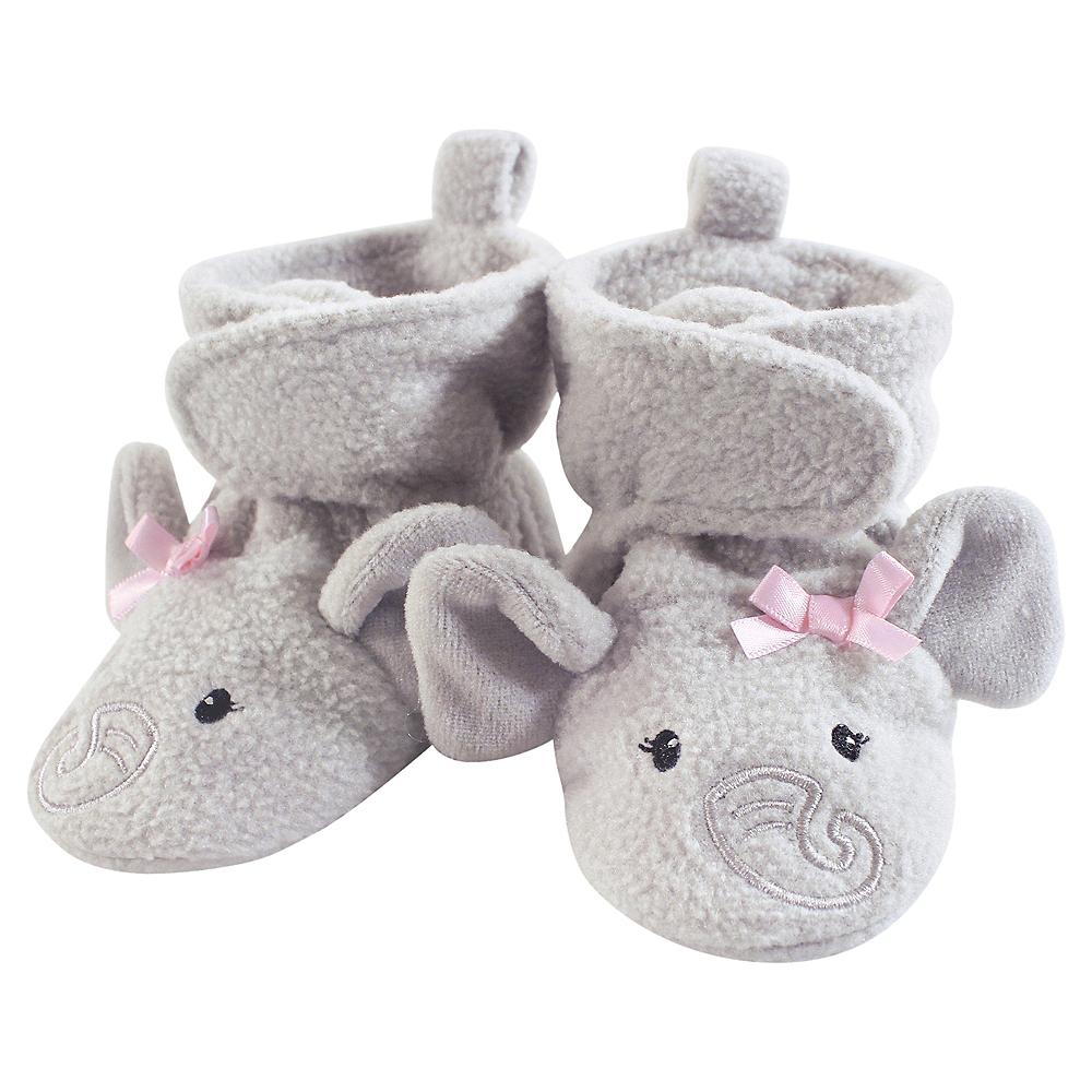 Pretty Elephant Hudson Baby Cozy Fleece Booties with Non Skid Bottom Image #1