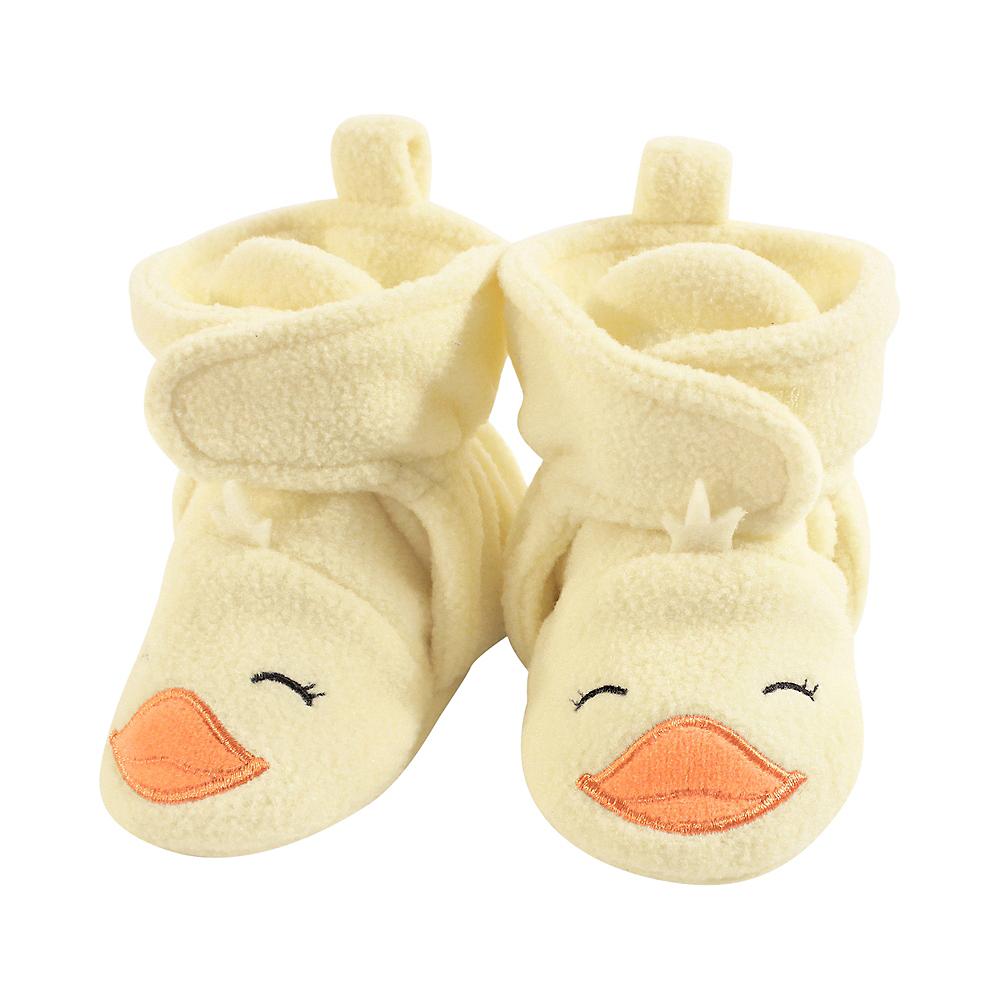 Yellow Duck Hudson Baby Cozy Fleece Booties with Non Skid Bottom Image #1