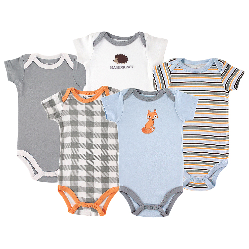Fox Luvable Friends Bodysuits, 5-Pack Image #1