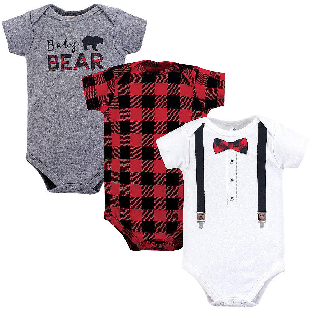 Bow Tie  Little Treasure Bodysuits, 3-Pack Image #1