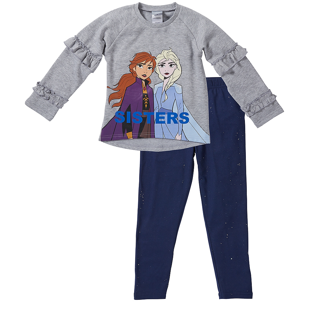 Child Frozen 2 Sisters Outfit Set 2pc Image #1