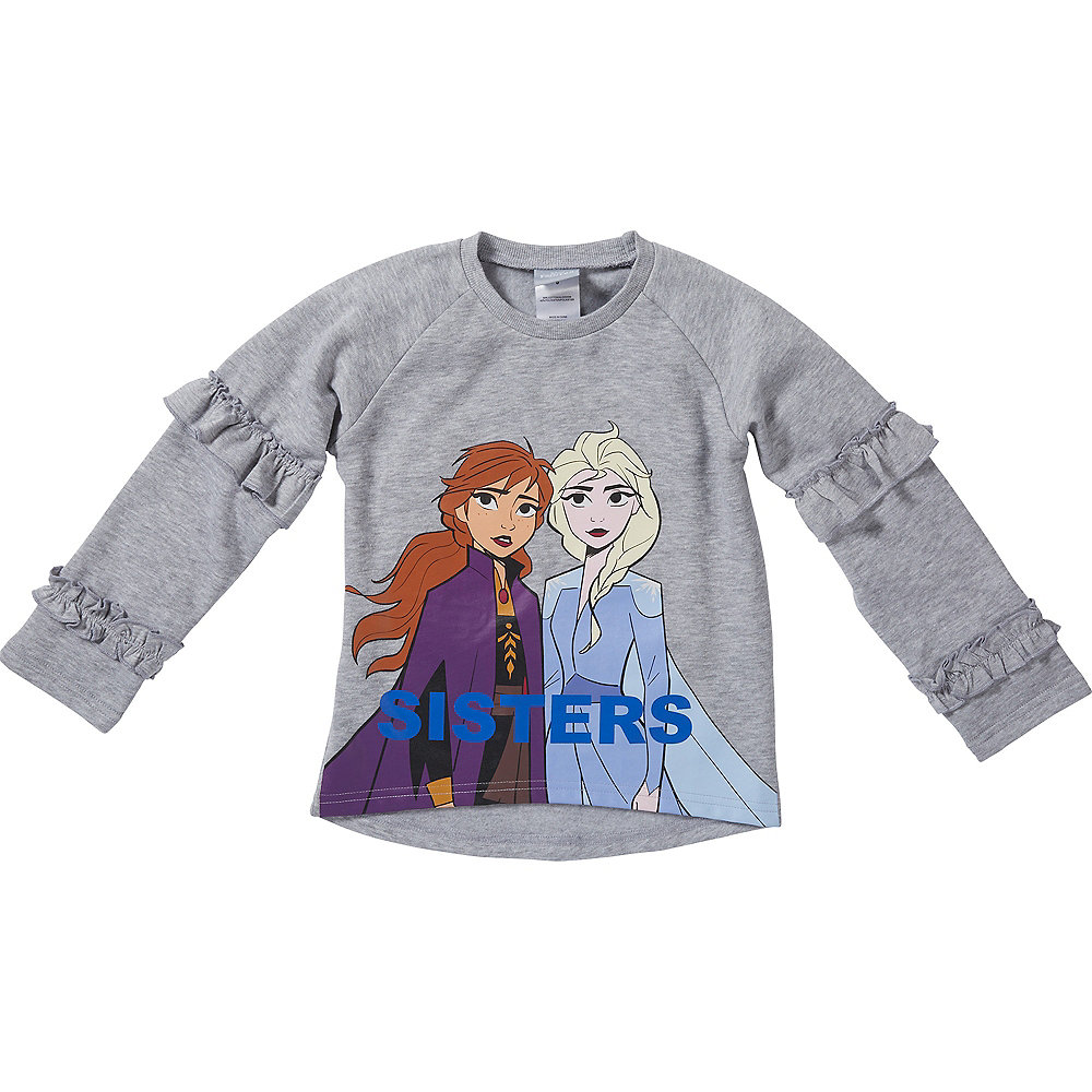 Child Frozen 2 Sisters Outfit Set 2pc Image #3