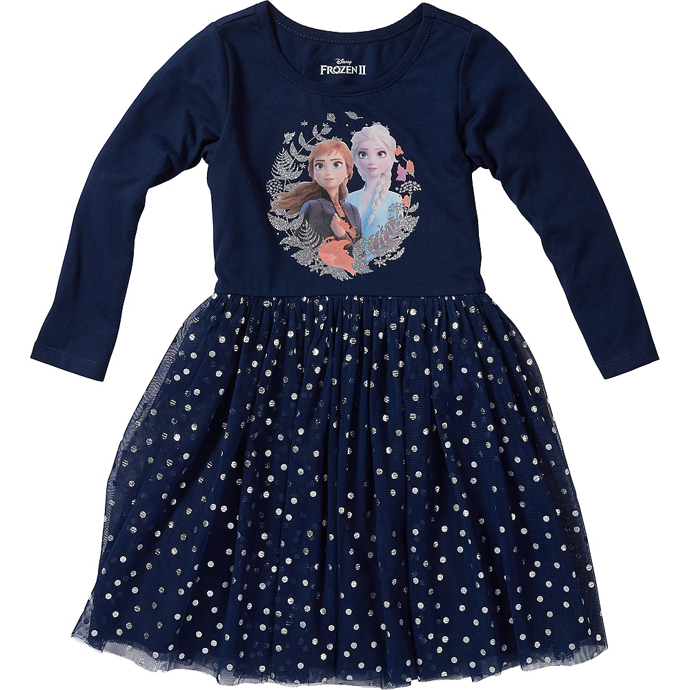 Child Frozen 2 Long-Sleeve Dress Image #1