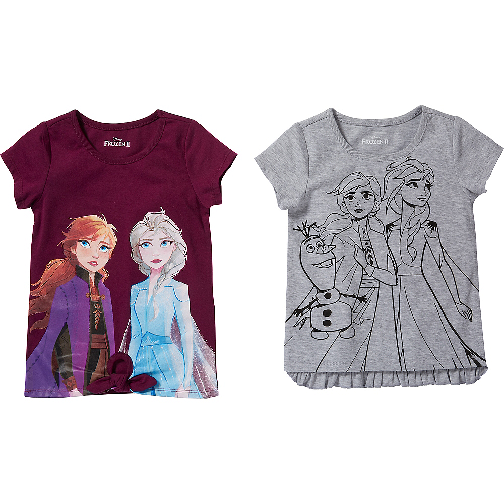 Child Frozen 2 T-Shirts 2ct Image #1