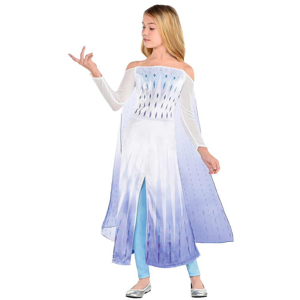 Nav Item for Child Epilogue Elsa Costume - Frozen 2 Image #1