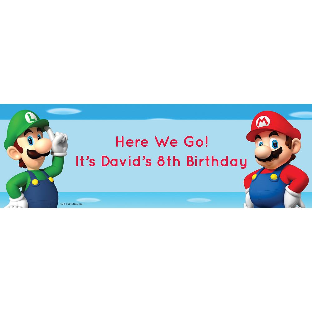 Custom Super Mario Horizontal Banner Image #1