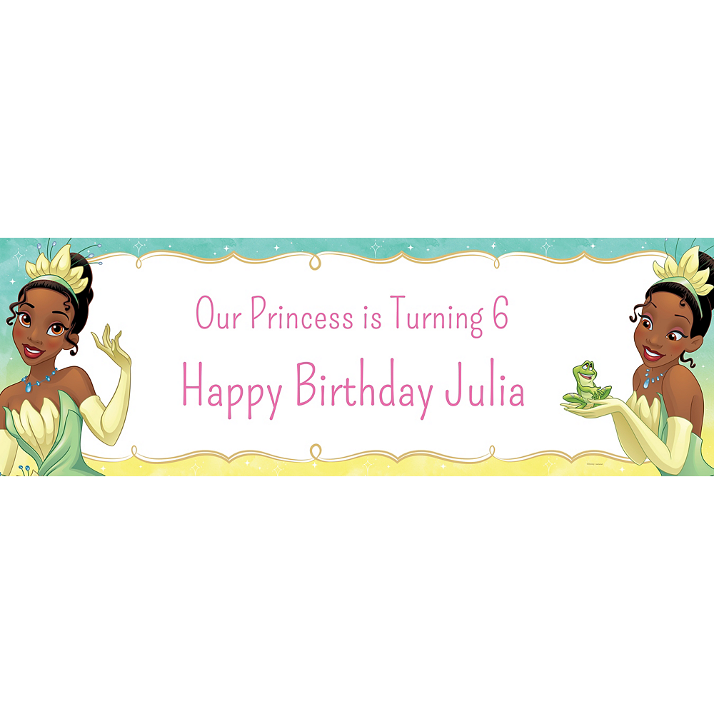 Custom The Princess and the Frog Tiana Horizontal Banner Image #1