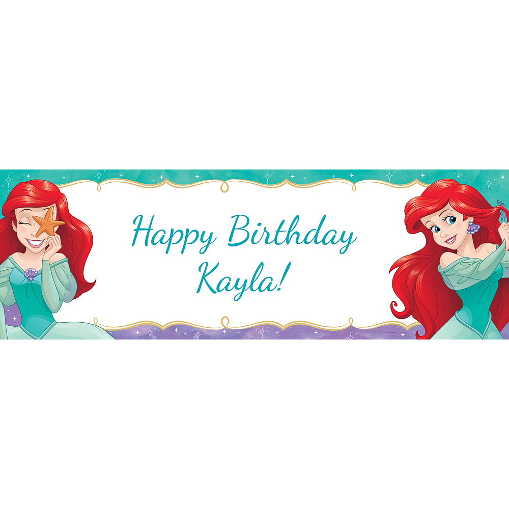 Custom The Little Mermaid Ariel Dream Big Horizontal Banner Image #1