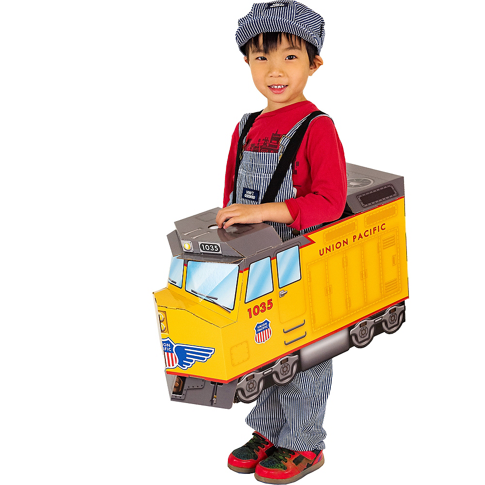 Child Diesel Train Ride-On Costume with Sound Effect Image #1