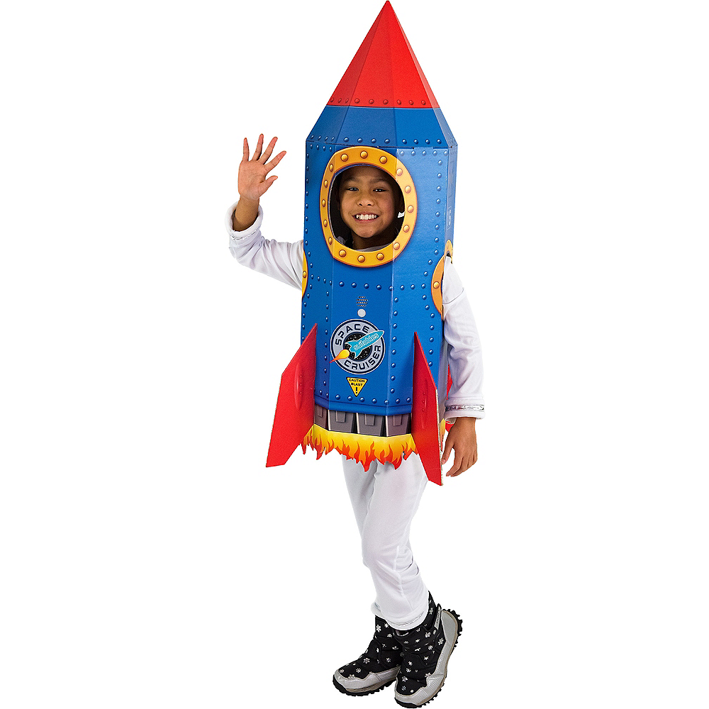 Child Rocket Ride-On Costume with Sound Effect Image #1