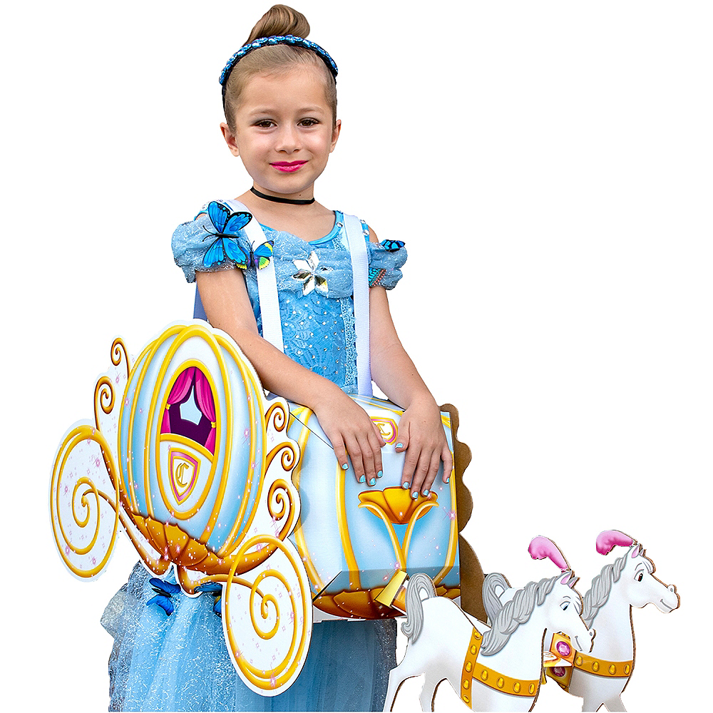 Child Pumpkin Carriage Ride-On Costume Image #1