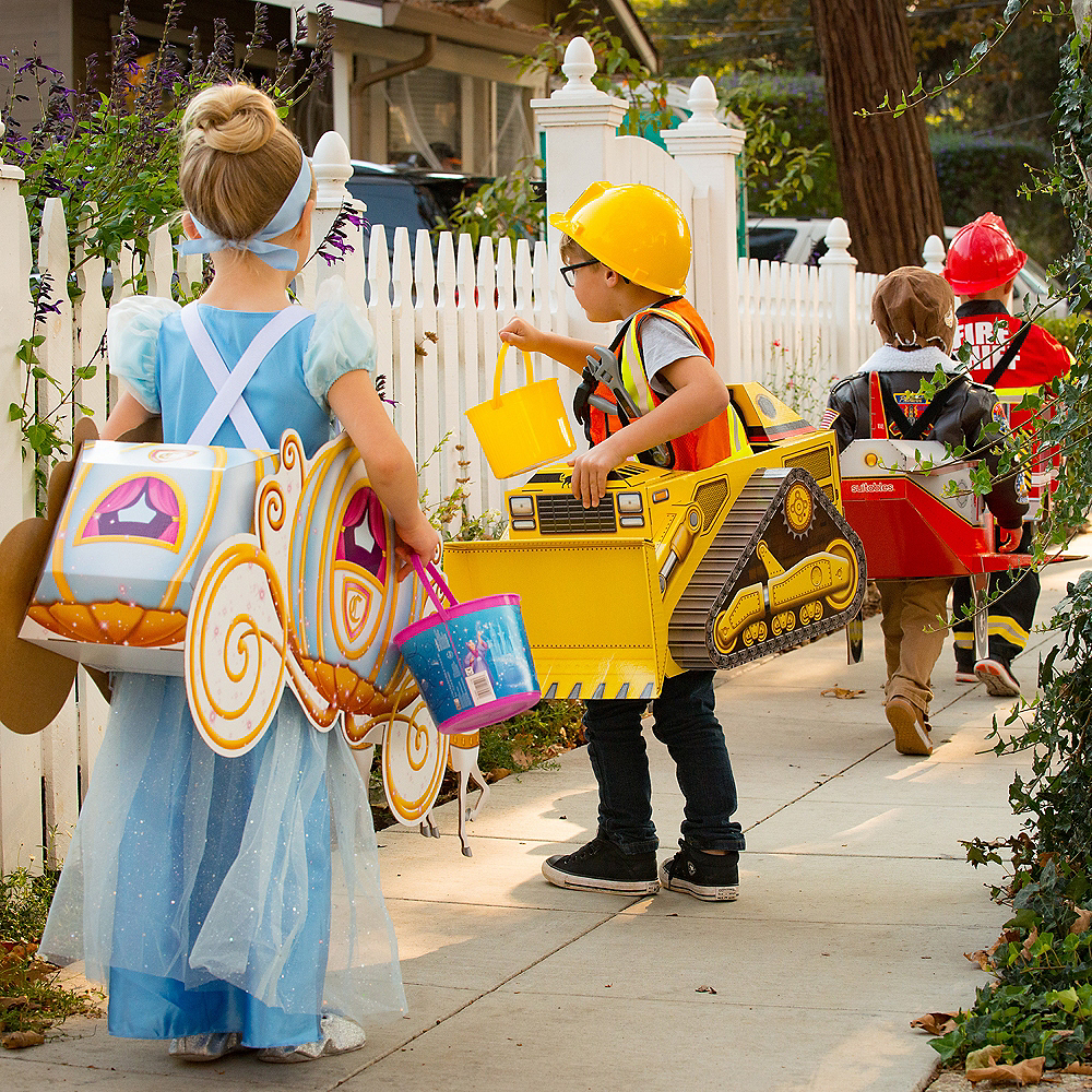 Child Pumpkin Carriage Ride-On Costume Image #3