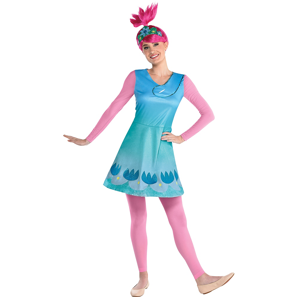 Adult Queen Poppy Costume - Trolls World Tour Image #1