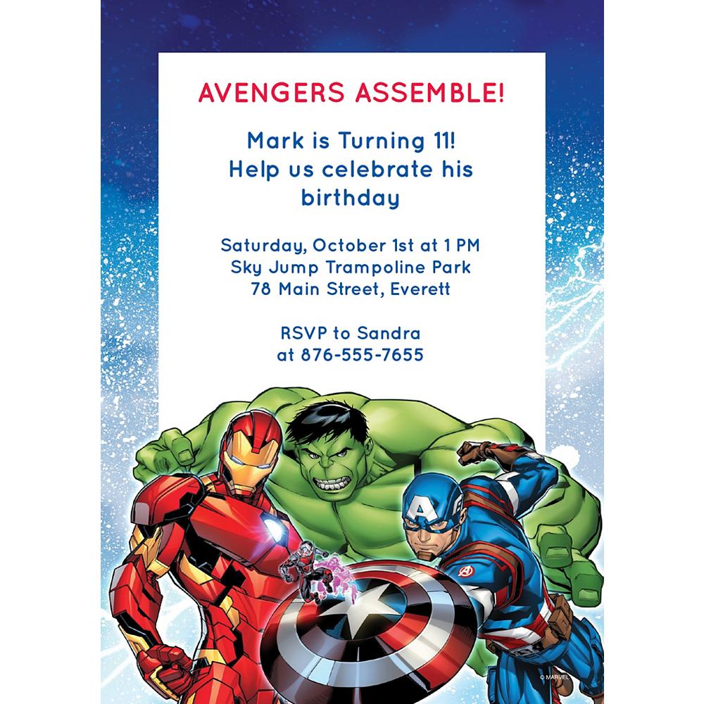 Custom Avengers Invitations Image #1