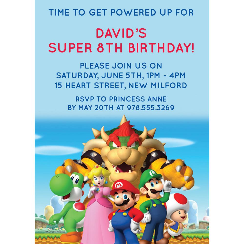 Custom Super Mario Invitations Image #1