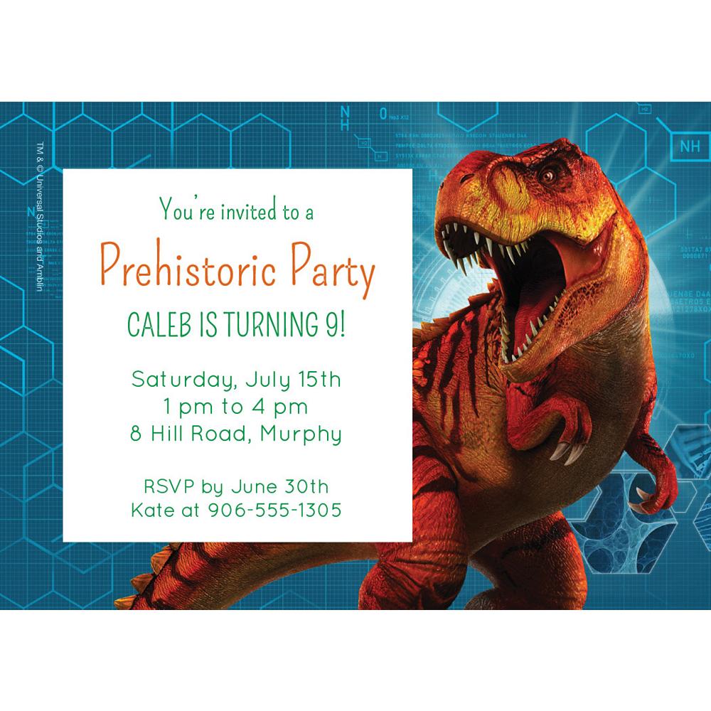 Custom Jurassic World Invitations Image #1