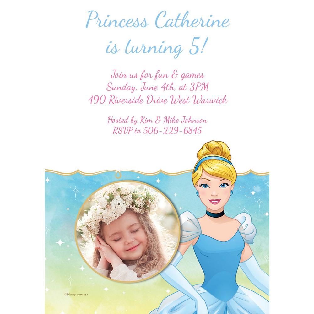 Custom Cinderella Photo Invitations Image #1