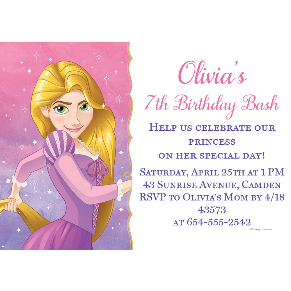 Nav Item for Custom Tangled Rapunzel Invitations Image #1