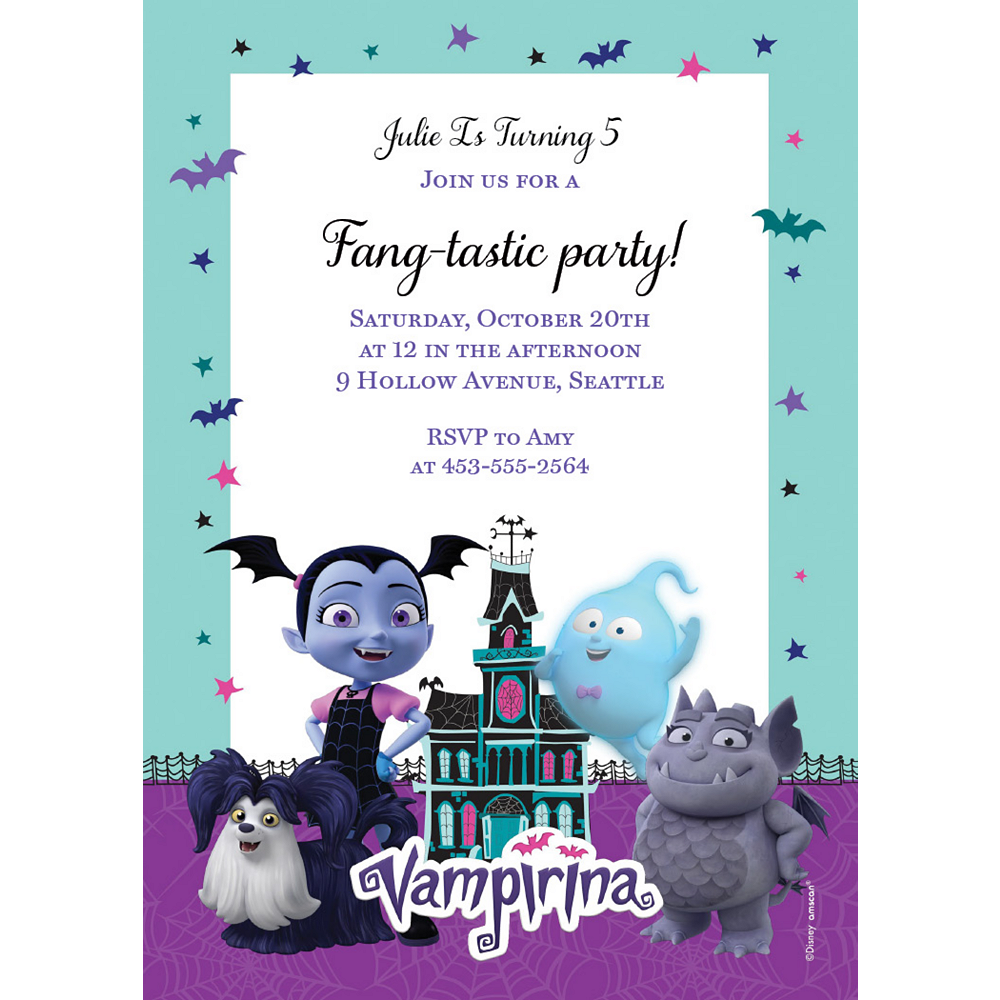 Custom Vampirina Invitations Image #1
