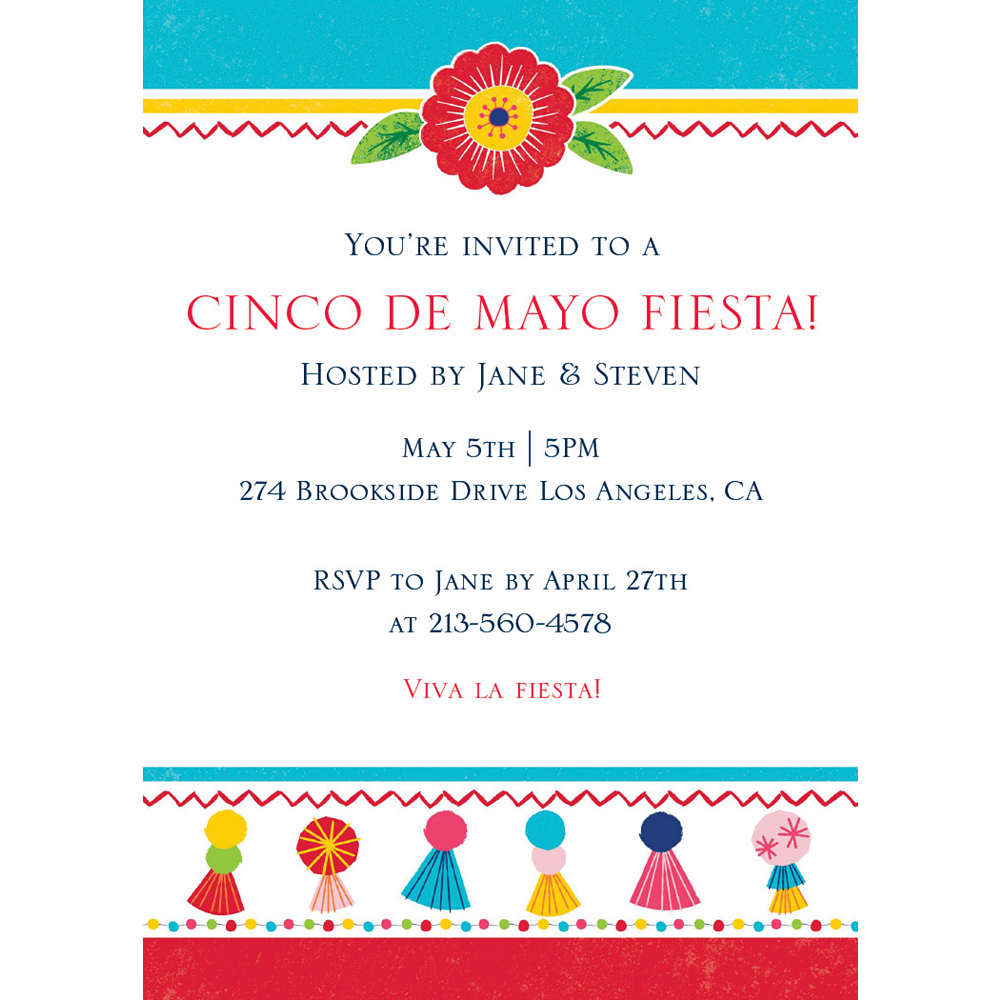 Custom Fiesta Time Invitations Image #1
