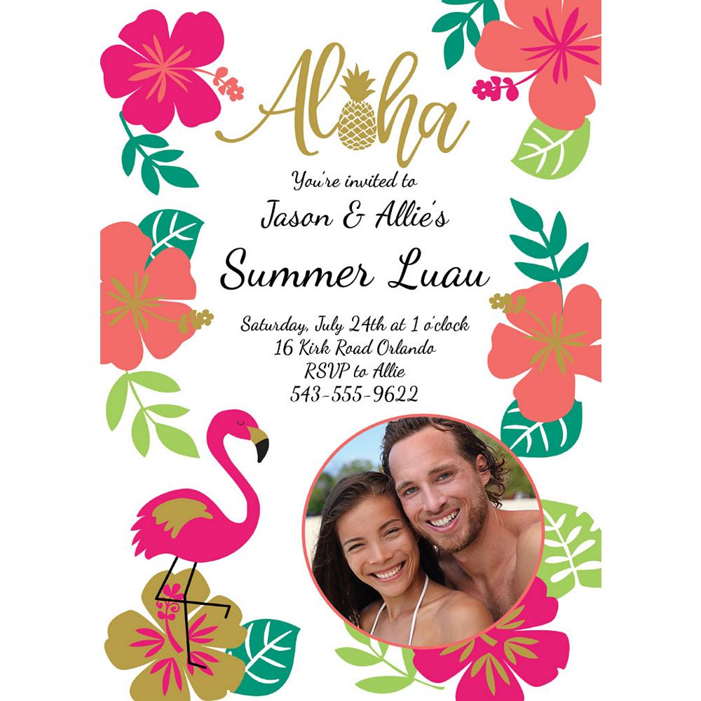 Custom Aloha Photo Invitations Image #1