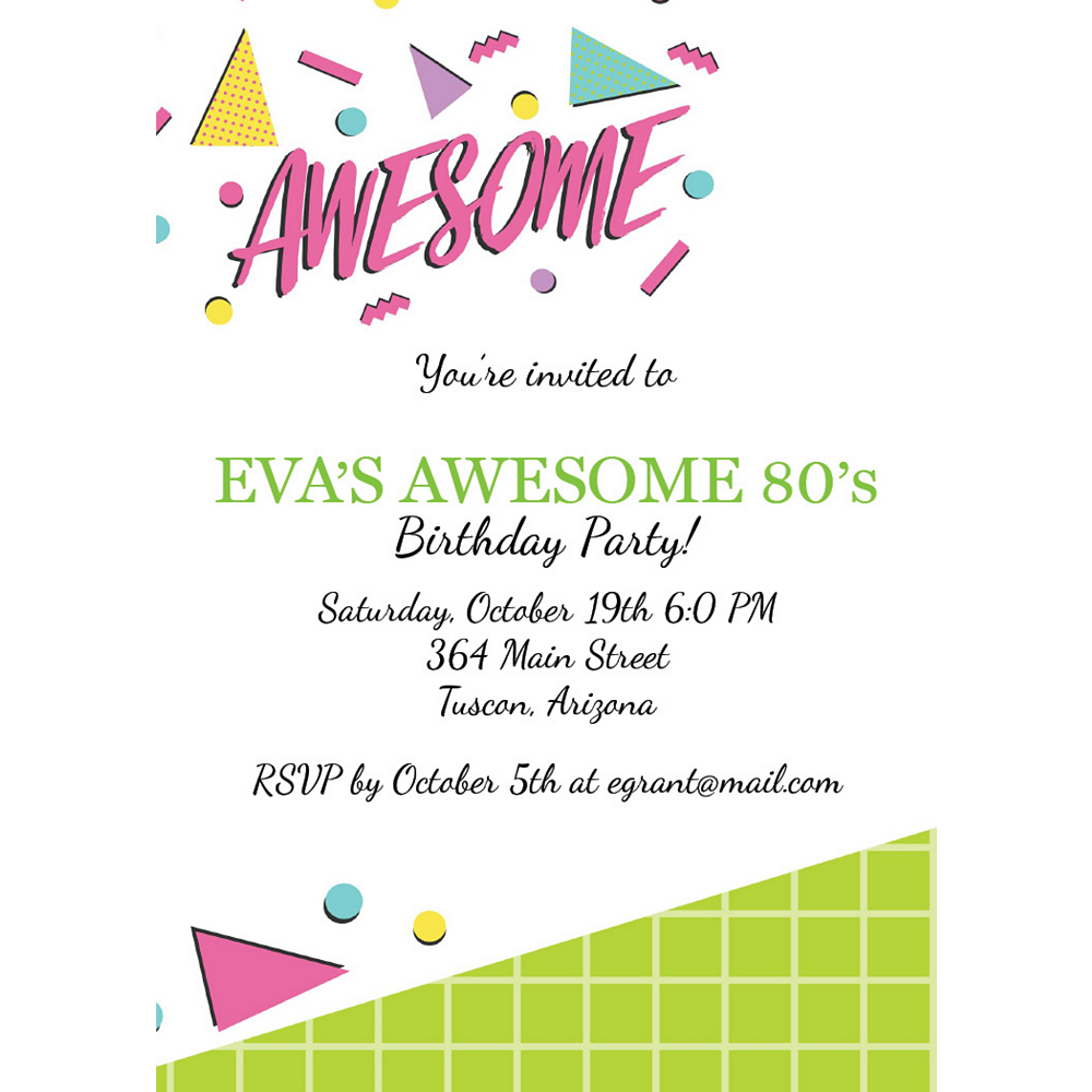 Custom Awesome Party Invitations Image #1