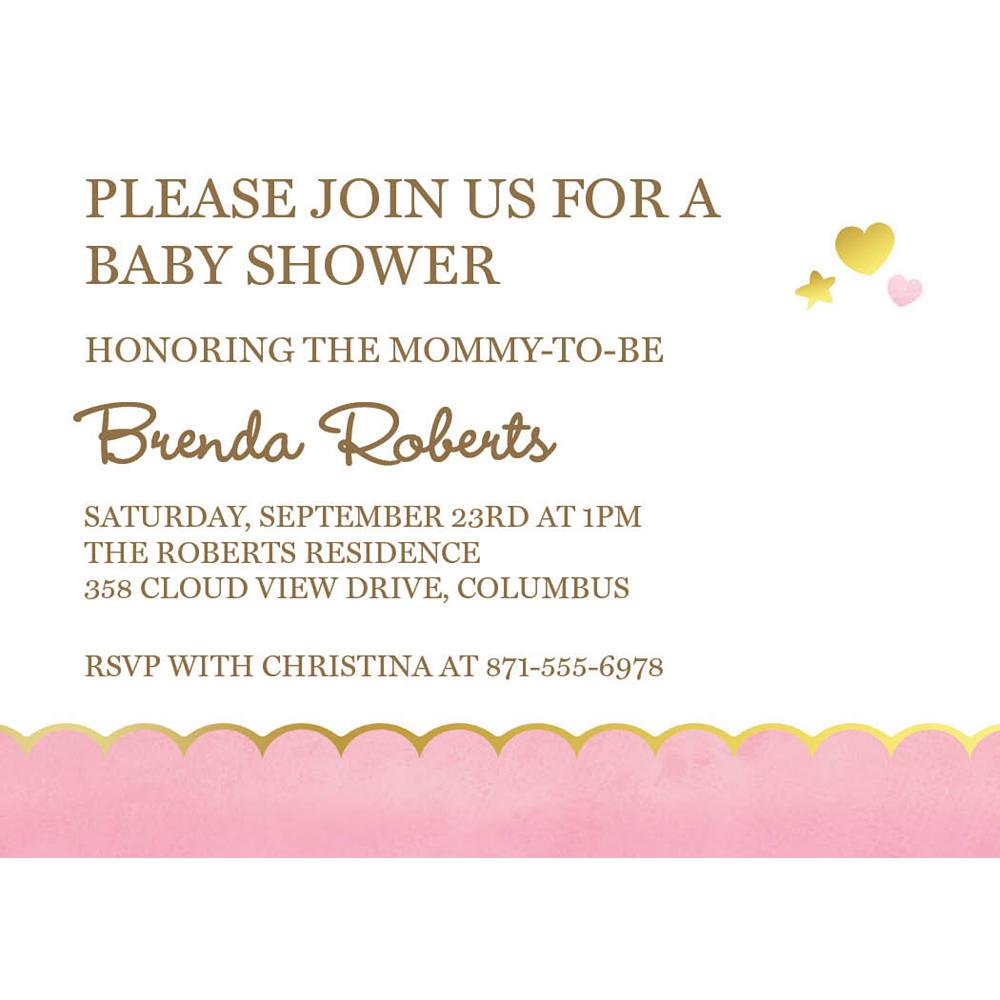 Custom Oh Baby Girl Invitations Image #1