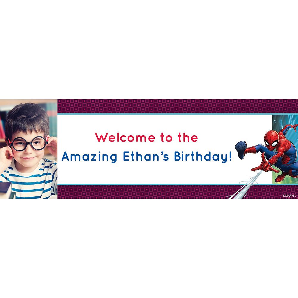 Custom Webbed Wonder Spider-Man Photo Horizontal Banner Image #1