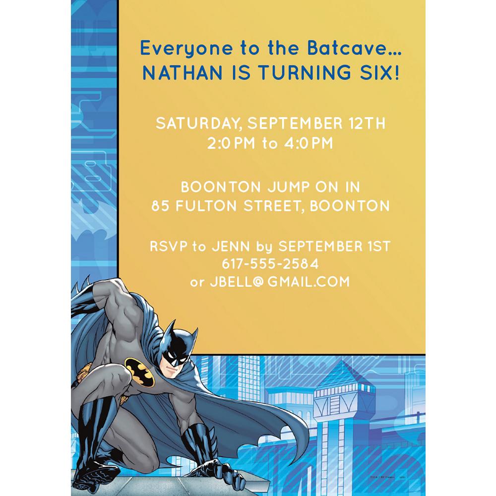 Custom Batman Invitations Image #1