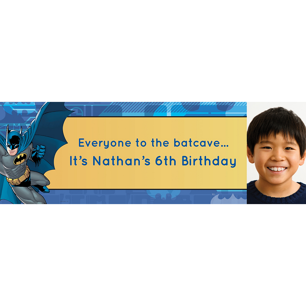 Custom Batman Photo Horizontal Banner Image #1