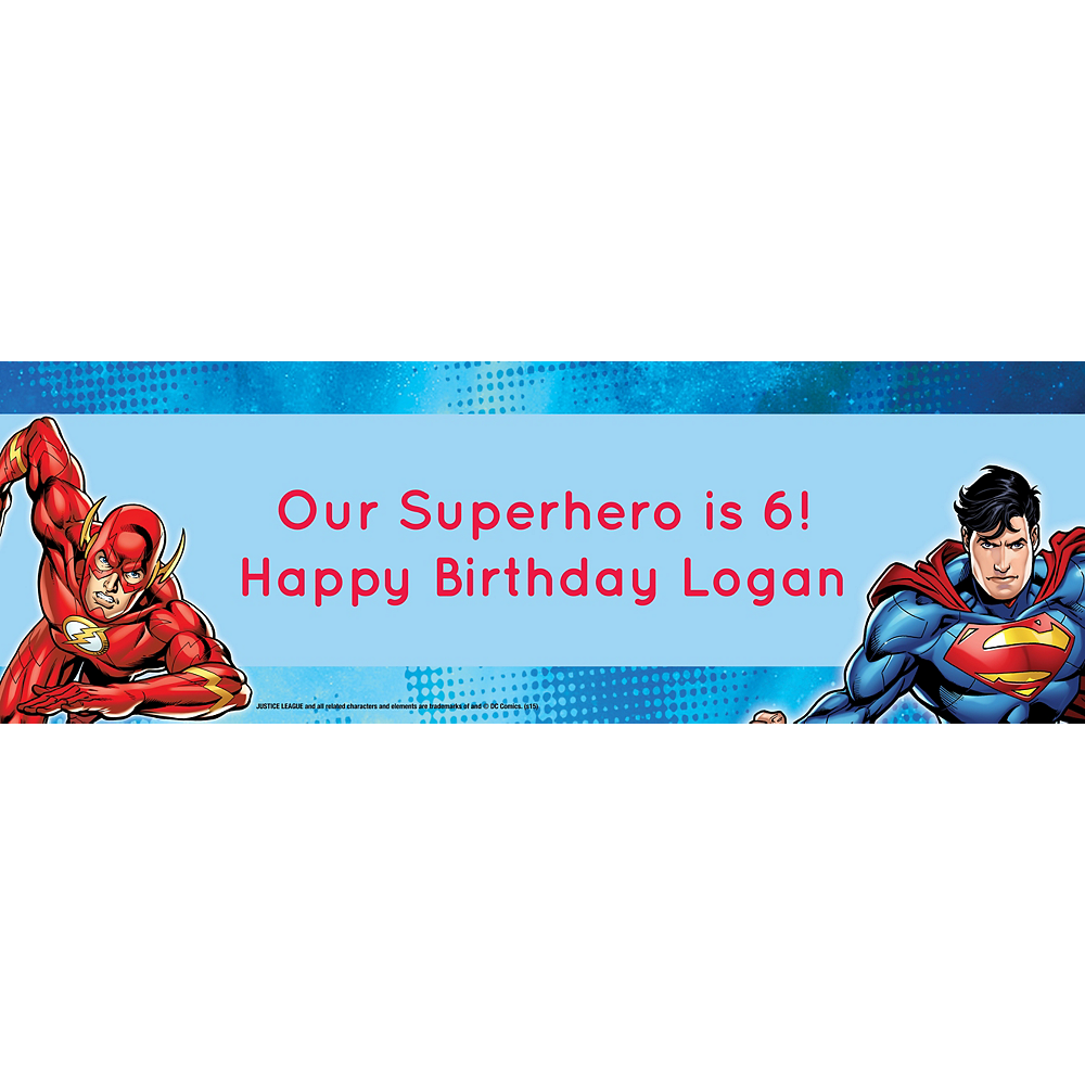 Custom Justice League Horizontal Banner Image #1