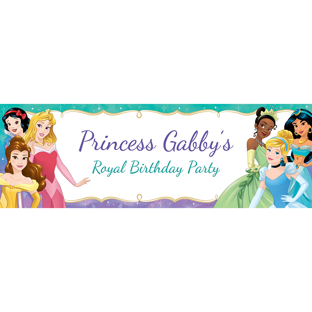 Custom Once Upon a Time Disney Princess Horizontal Banner Image #1