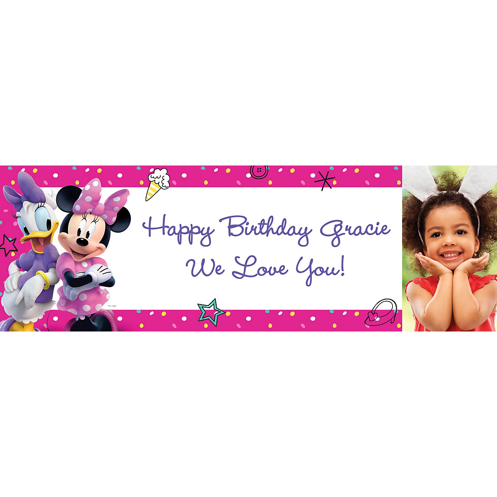 Custom Minnie Mouse's Helpers Photo Horizontal Banner Image #1
