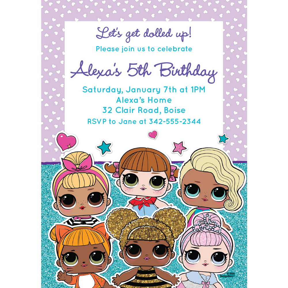 Custom L.O.L. Surprise! Invitations Image #1