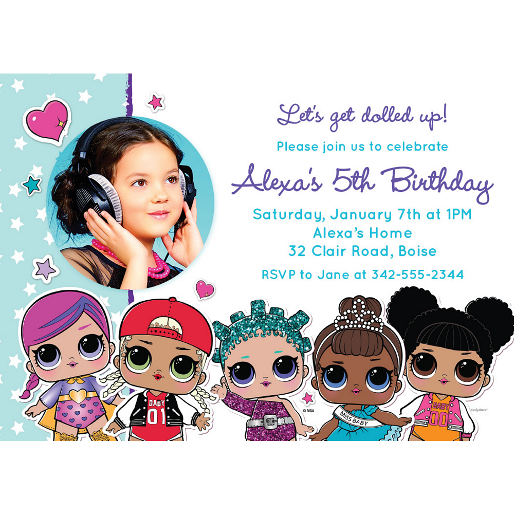 Custom L.O.L. Surprise! Photo Invitations Image #1