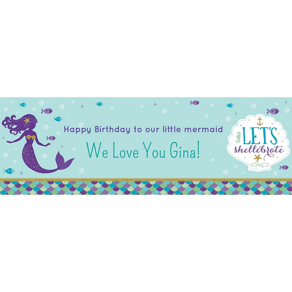 Custom Mermaid Wishes Horizontal Banner Image #1