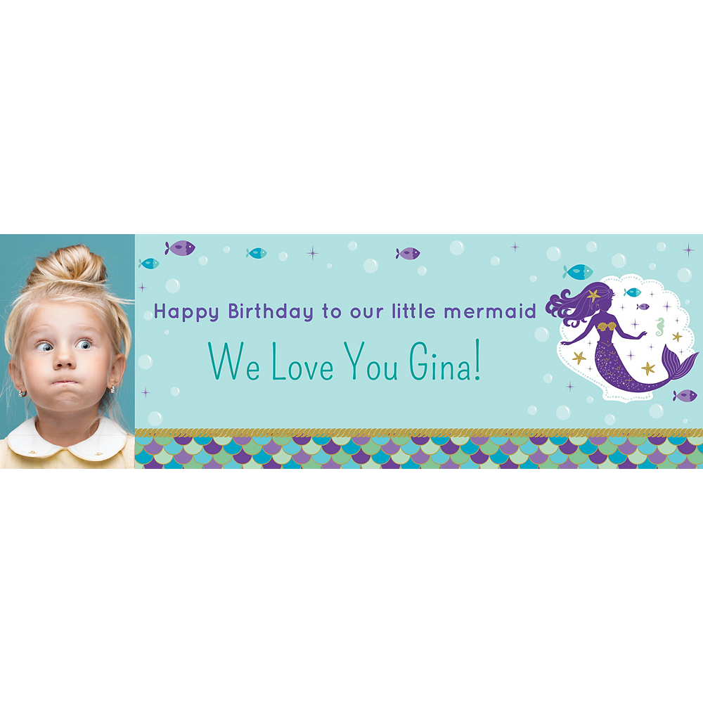 Custom Mermaid Wishes Photo Horizontal Banner Image #1
