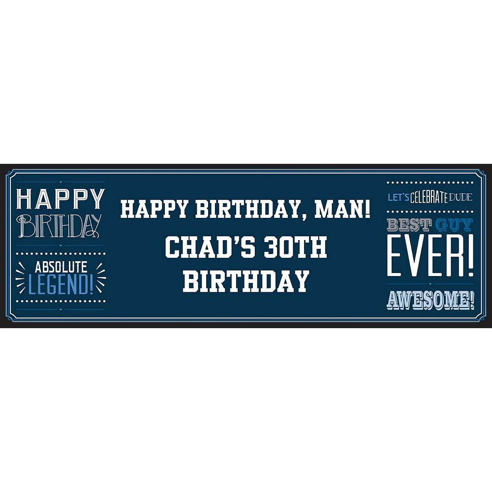Custom Happy Birthday Man Horizontal Banner Image #1