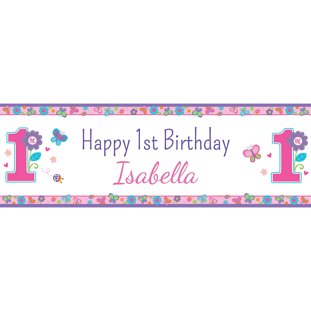 Nav Item for Custom Sweet Birthday Girl Horizontal Banner Image #1