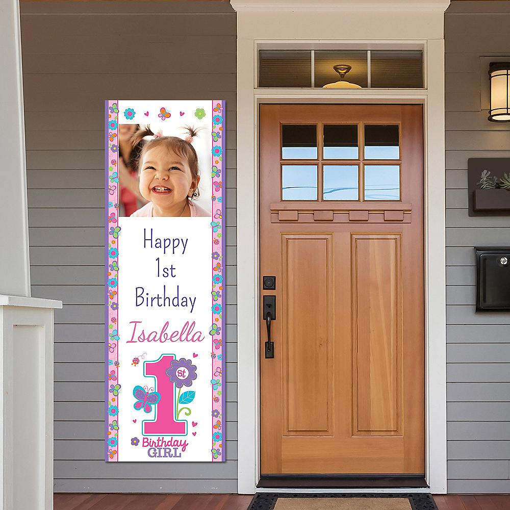 Custom Sweet Birthday Girl Photo Vertical Banner Image #1