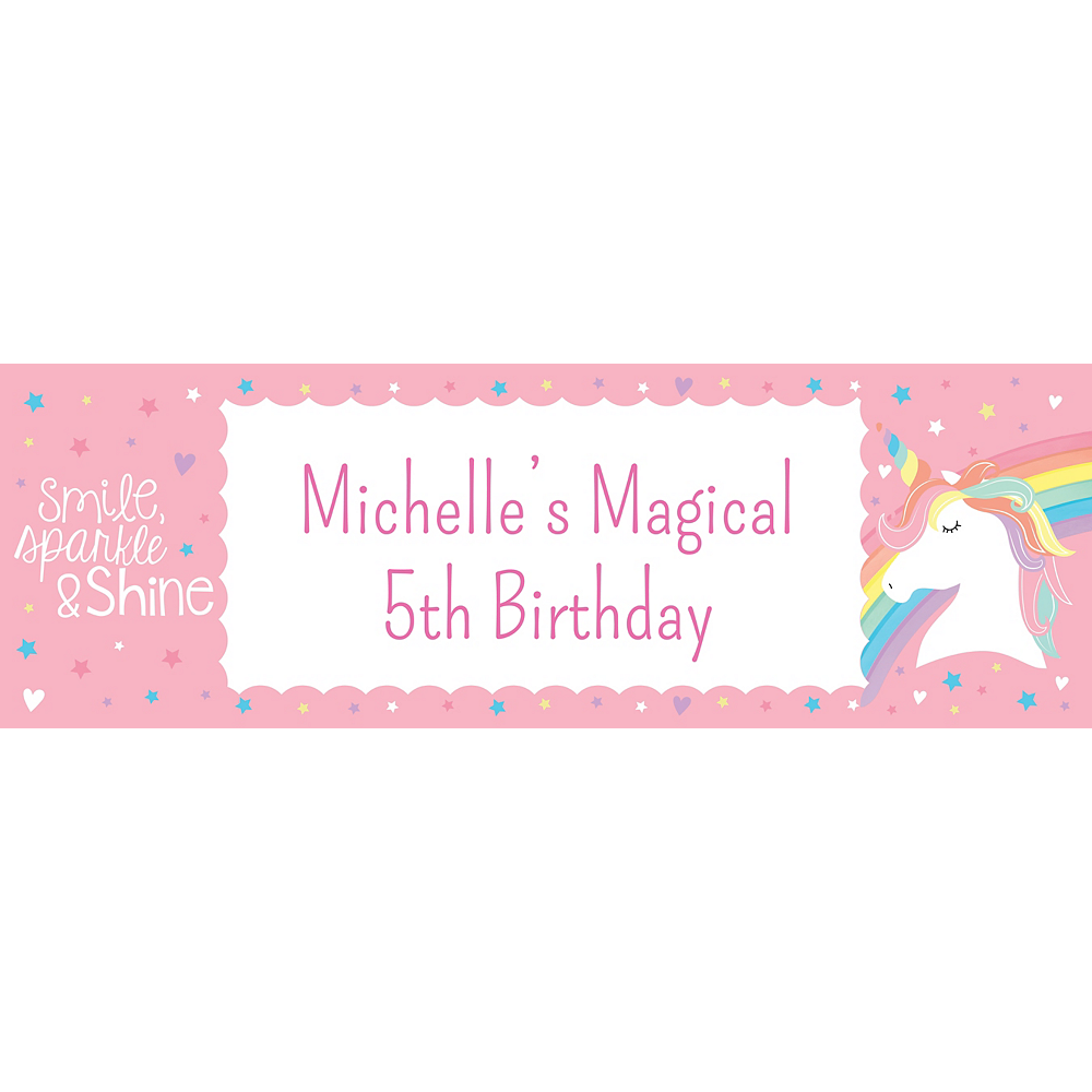 Custom Magical Rainbow Birthday Horizontal Banner Image #1