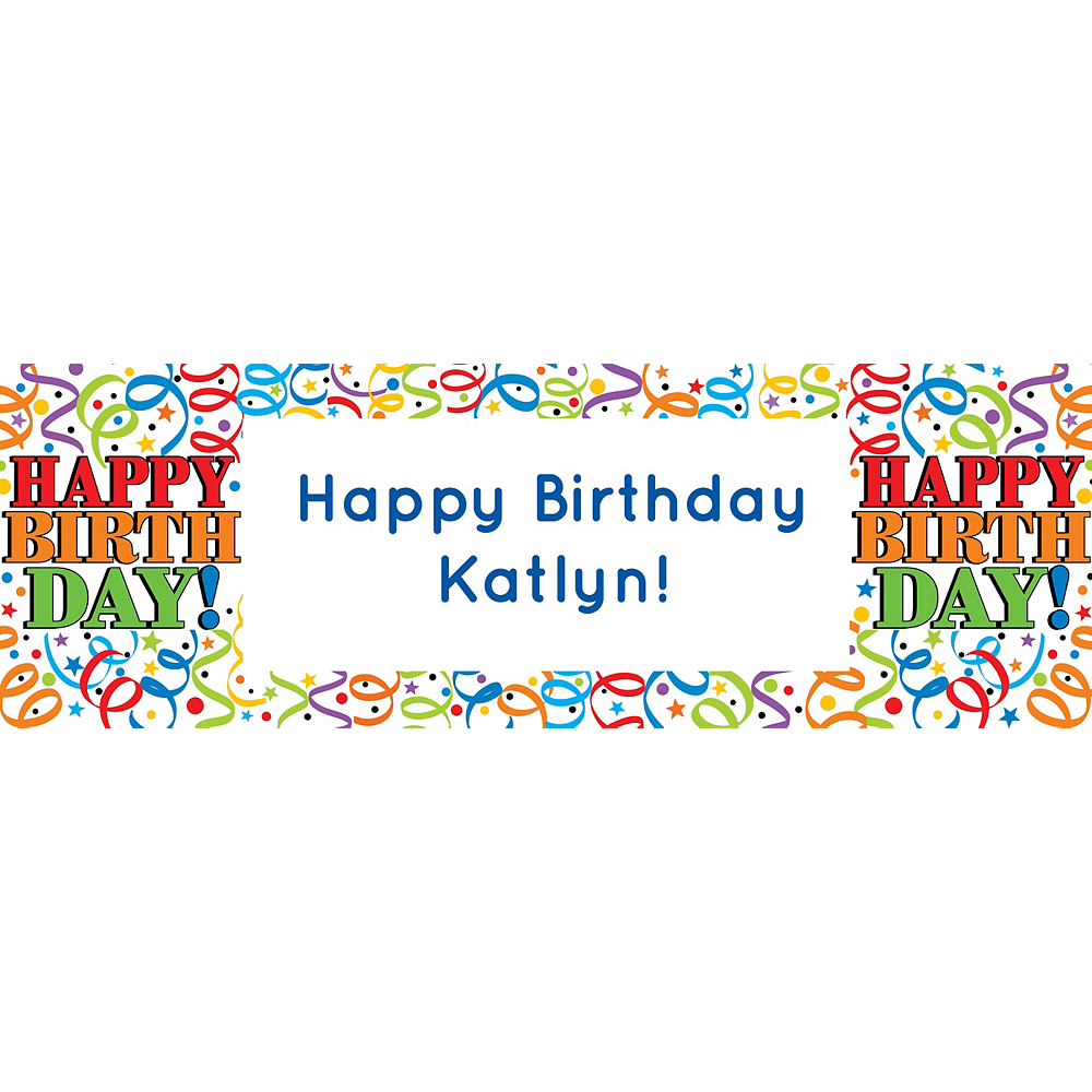 Custom Colorful Birthday Horizontal Banner Image #1