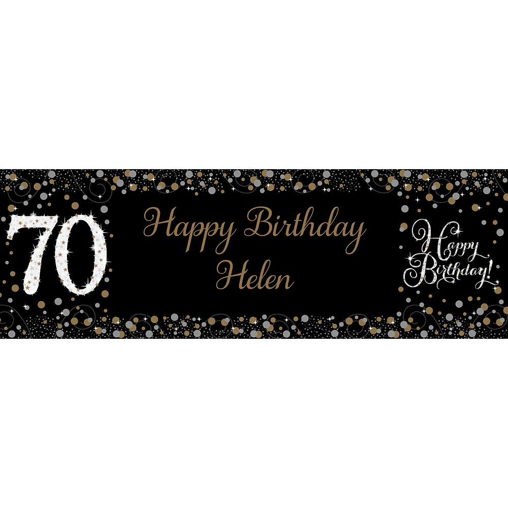 Custom Sparkling Celebration 70 Horizontal Banner Image #1