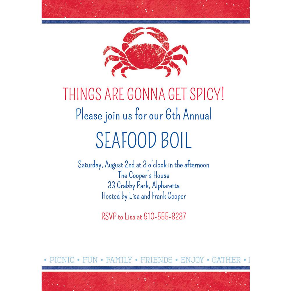 Custom Seafood Invitations Image #1