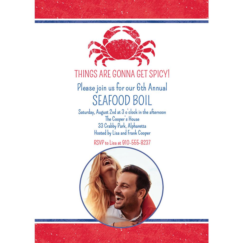 Custom Seafood Photo Invitations Image #1