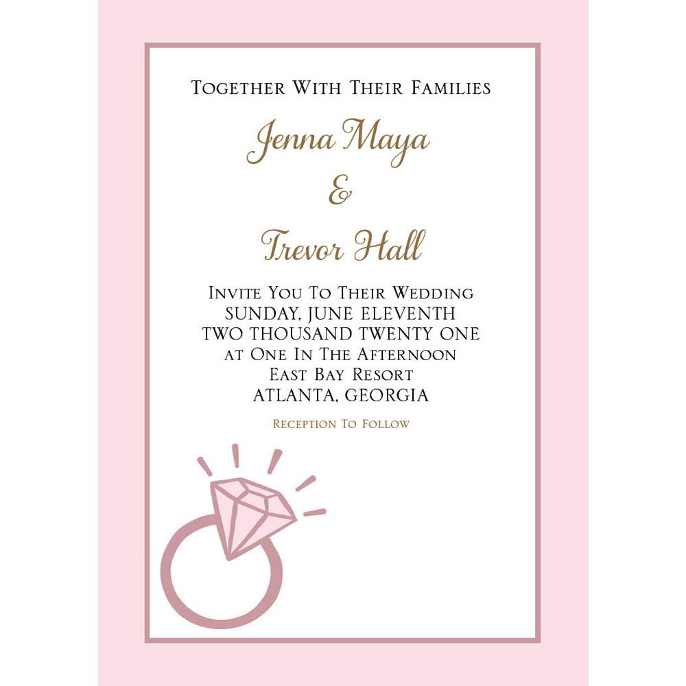 Custom Blush Wedding Invitations Image #1