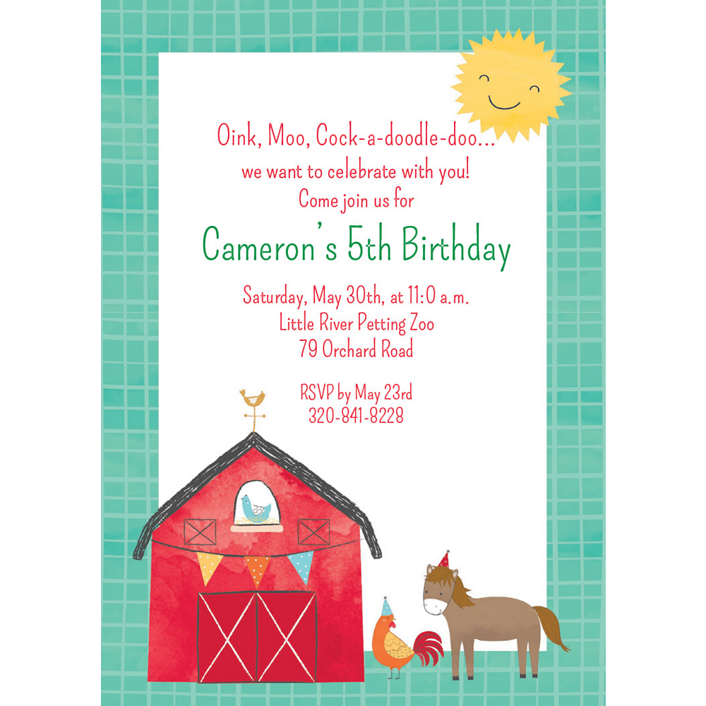 Custom Barnyard Invitations Image #1